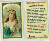 Mary Praying Courtship prayer, Laminated prayer card