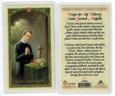 St. Gerard Majella, safe Delivery, Laminated prayer card