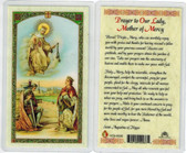 Prayer to Our Lady, Mother of Mercy, Laminated prayer card