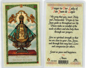 prayer to our Lady of San Juan Lagos, laminated prayer card