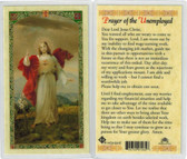Prayer of the Unemployed, laminated prayer card