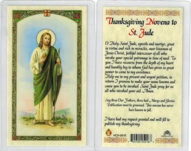 Thanksgiving novena to st jude laminated prayer card thecheapjerseys Images