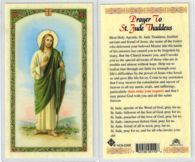 Thanksgiving novena to st jude laminated prayer card prayer to st jude thaddeus laminated prayer card thecheapjerseys