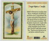 Prayer Before a Crucifix, laminated prayer card