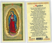 Magnificat, laminated prayer card