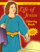 Christian Catholic Coloring Book for Adults on Life of Jesus