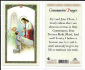 Laminated First Communion Prayer Card for Boys.