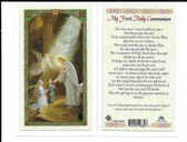 Laminated First Communion Prayer Card for Boys and Girls. In celebration of my First Communion.