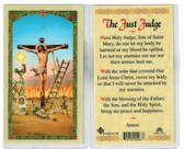 "Laminated  Prayer Card ""The Just Judge"" Prayer from Jesus."