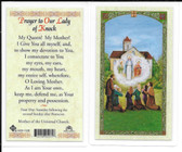 Laminated Prayer Card to Our Lady of Knock.
