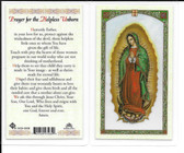 Laminated Prayer to Our Lady for Helpless Unborn.