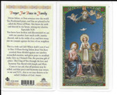 Laminated Prayer Card for peace in Family.