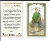 "Laminated Prayer Card St. Patrick""."