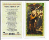 "Laminated Prayer Card ""Prayer for the Triduum to St. Anthony'""."