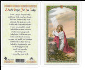 "Laminated Prayer Card ""I said a Prayer for you today""."