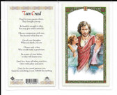 "Laminated Prayer Card ""Teen Creed""."