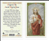 "Laminated Prayer Card ""Prayer to the Sacred Heart of Jesus""."