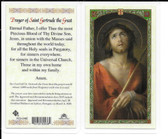"Laminated Prayer Card ""Prayer of St. Gertrude the Great""."
