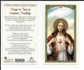 "Laminated Prayer Card ""Prayer in time of Economic Hardship""."