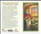 Laminated Prayer Card by Saint Augustine