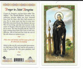 Laminated Prayer Card by St. Peregrine""