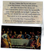 Act of Spiritual Communion Prayer Card