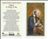 Laminated Prayer Card Prayer to St. Francis De Sales