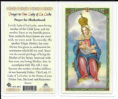 Laminated Prayer Card Prayer to Lady of La Leche