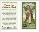 Laminated Prayer Card to Saint Andrew the Apostle