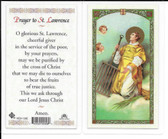 Laminated Prayer Card to Saint Lawrence