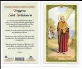 Laminated Prayer Card to Saint Bartholomew