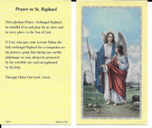 "50 cent Prayer Cards ""Novena to Saint Raphael"""