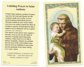 Unfailing Prayer to Saint Anthony of Padua Prayer Card
