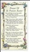 "50 cent Prayer Cards of ""Prayer of St. Francis Xavier"""