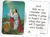 Lord, Help Me to Remember Prayer Card with Medal with Jesus in Garden of Gethsemane