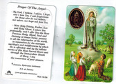 Prayer of the Angel of Fatima with Image of Our Lady of Fatima and Medal