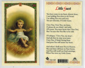 Baby Jesus, Little White Guest Laminated Prayer Card