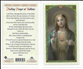 Laminated Prayer Card for Healing Prayer at Bedtime