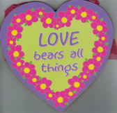 Love Bears All Things Heart Wall Plaque