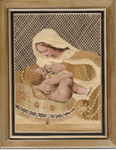 Mary Feeding Baby Jesus Plaque