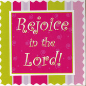 Rejoice In The Lord Wall Plaque