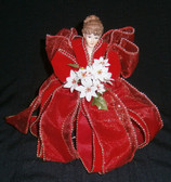 buy Red Poinsettia Tree Top Angel