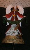 Metal Fireplace Top Angel with Hanger for Stocking