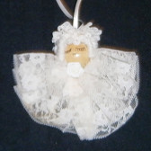 Hand Made Sleeping Angel Ornament with Lace