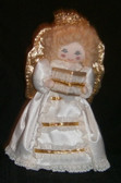 Smiling Vintage Cloth Angel with Choir Book
