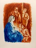 Folklore Christmas, Original Print by Tvrtko Klobucar, Canadian artist.