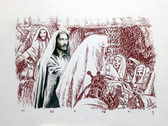 Jesus Declares He Is the Son of God, Original Print by Tvrtko Klobucar, Canadian artist.