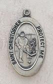 Saint Christopher Hockey Boy Medal On Chain