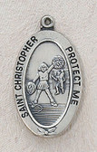 Saint Christopher Cheerleading Medal On Chain