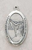 Saint Christopher Football Medal On Chain